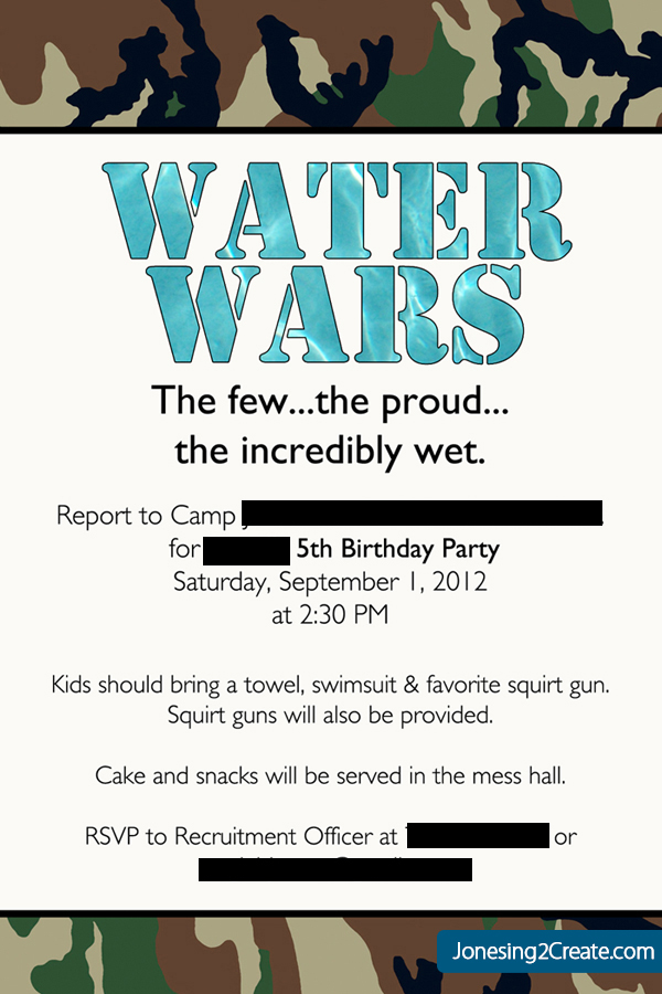 Water Wars: The Ultimate Army Water Birthday Party! - Jonesing2Create