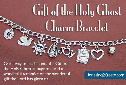 LDS Baptism Talk on the Gift of the Holy Ghost Charm Bracelet