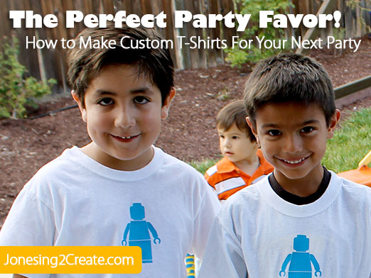 Custom T-shirt Party Favors