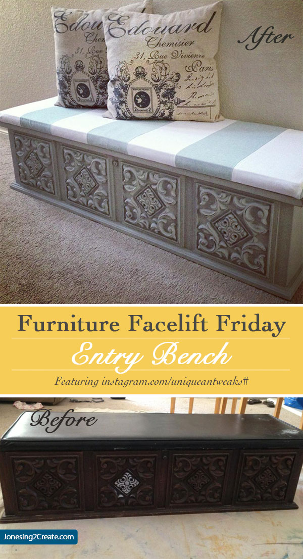 furniture facelift entry bench