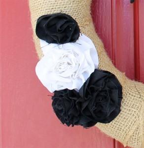 halloween fabric flowers