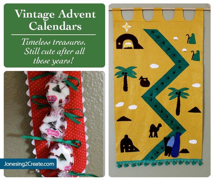 Advent Calendar Vintage : Vintage advent calendars jonesing create