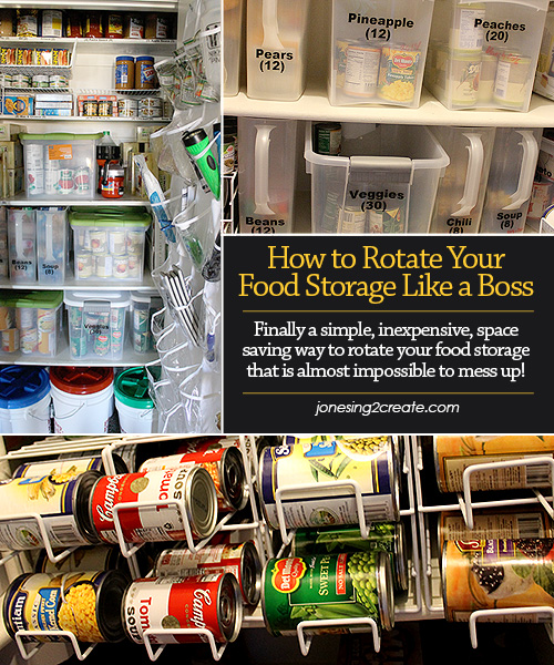 How to Rotate Food Storage & How to Rotate Food Storage Like a Boss - Jonesing2Create