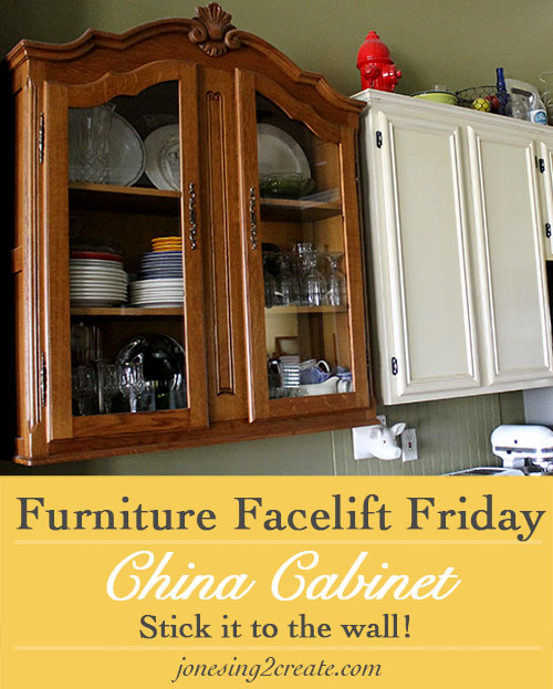 Furniture Facelift Friday: China Cabinet Turned Kitchen Cabinet ...