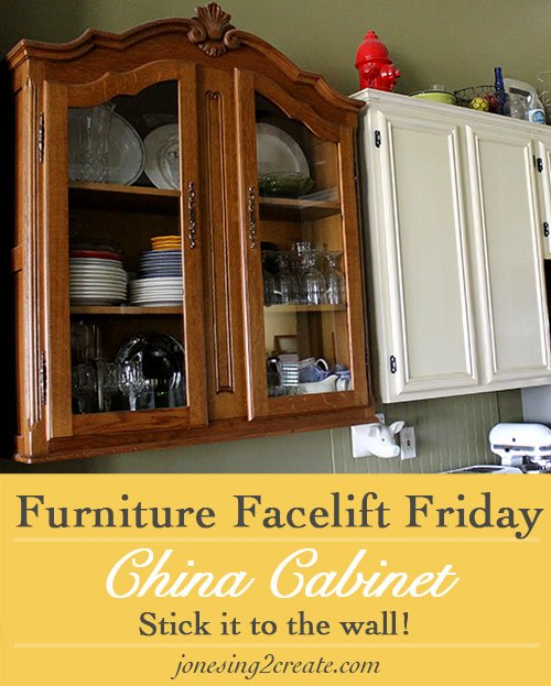 Furniture Facelift Friday China Cabinet Turned Kitchen