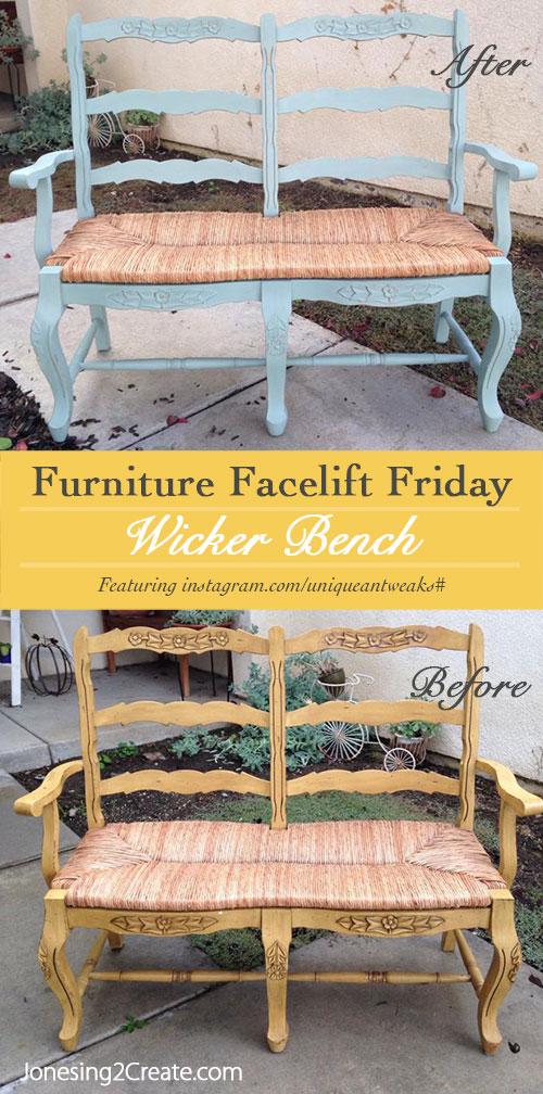 wicker-bench