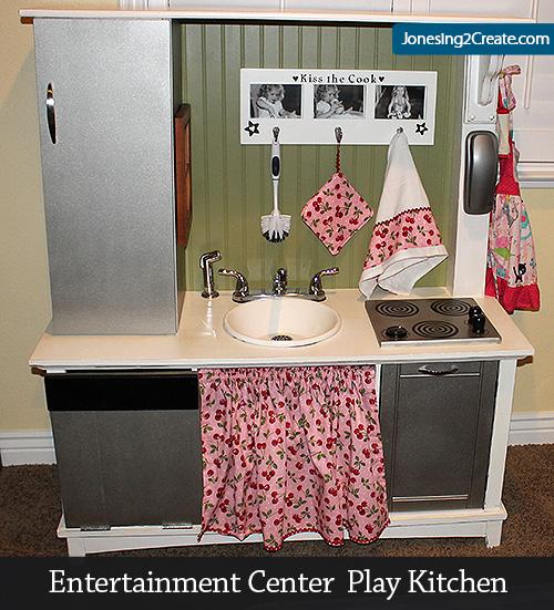 Entertainment Center Play Kitchen - Jonesing2Create