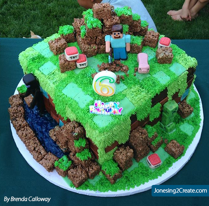Minecraft Birthday Cake Jonesing2create