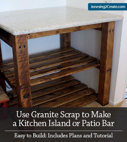 Kitchen Island Table Plans: Make It Using Granite Scrap