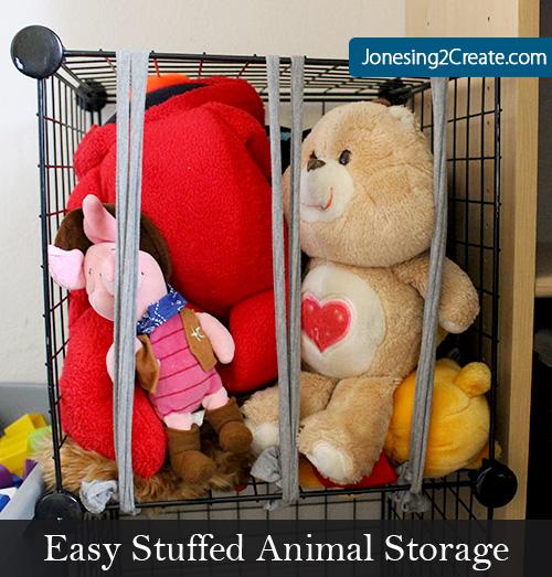 Easy Stuffed Animal Storage Jonesing2create