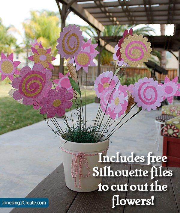 Pinkalicious Paper Flowers With Free Silhouette File Jonesing2create