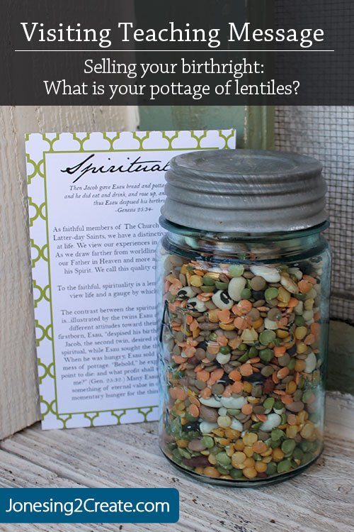 Visiting Teaching Message with Soup Mix in a Jar - Jonesing2Create