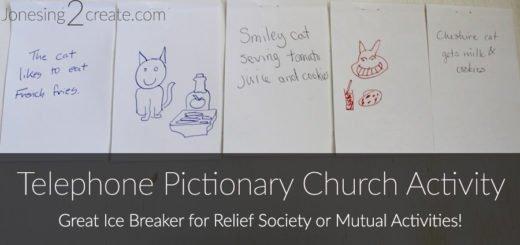 Telephone Pictionary Church Activity