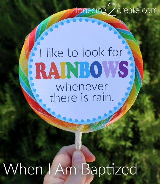 LDS Baptism Rainbow Printable