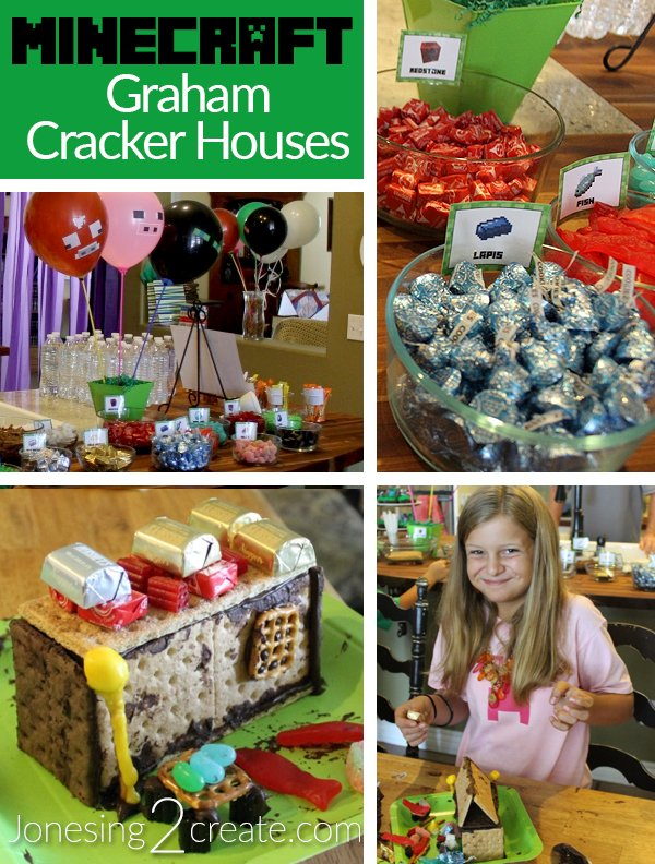 Minecraft Graham Cracker Houses