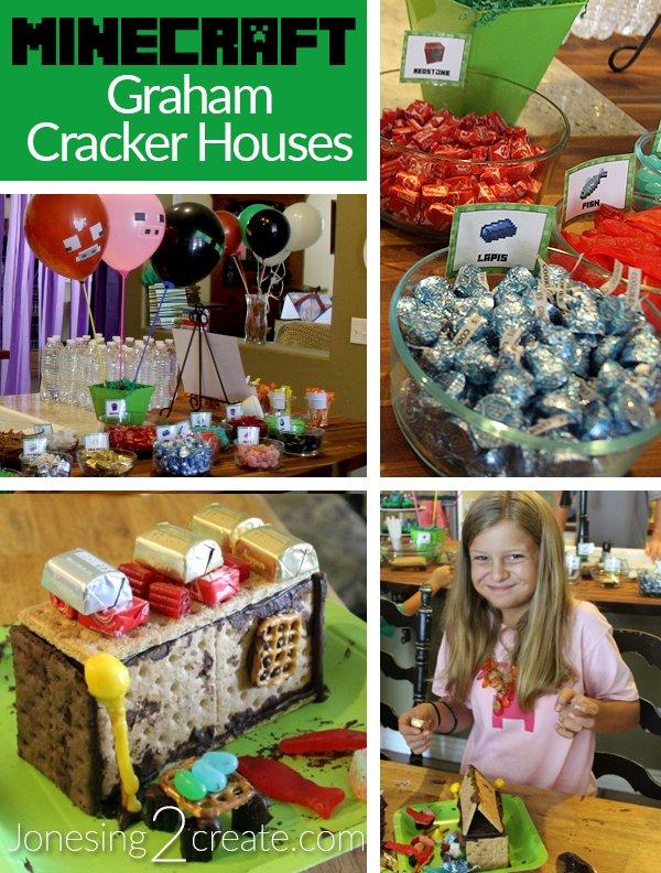 Minecraft Graham Cracker Houses Jonesing2Create