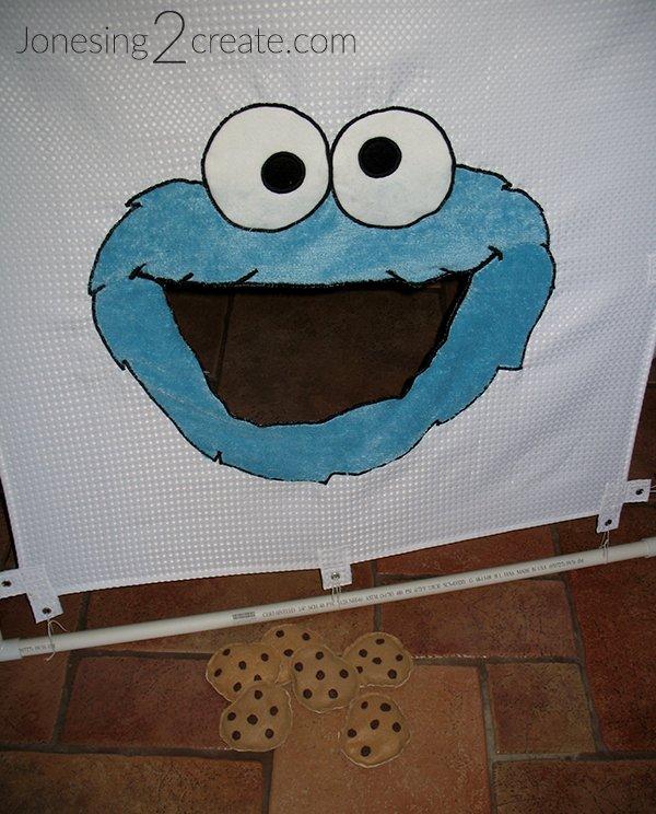 Cookie Monster Bean Bag Toss Game