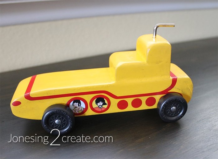Yellow Submarine Pinewood Derby Car Jonesing2create