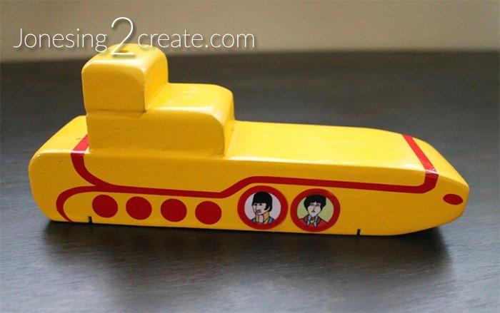 Yellow Submarine Pinewood Derby Car No wheels