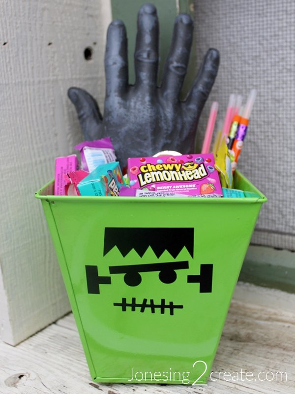 Frankenstein Head Goodie Basket