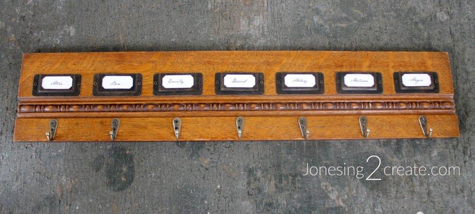 Vintage Hotel Key Rack
