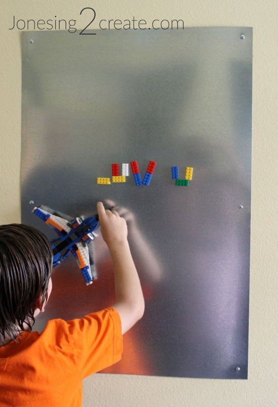 Magnetic Lego Bulletin Board