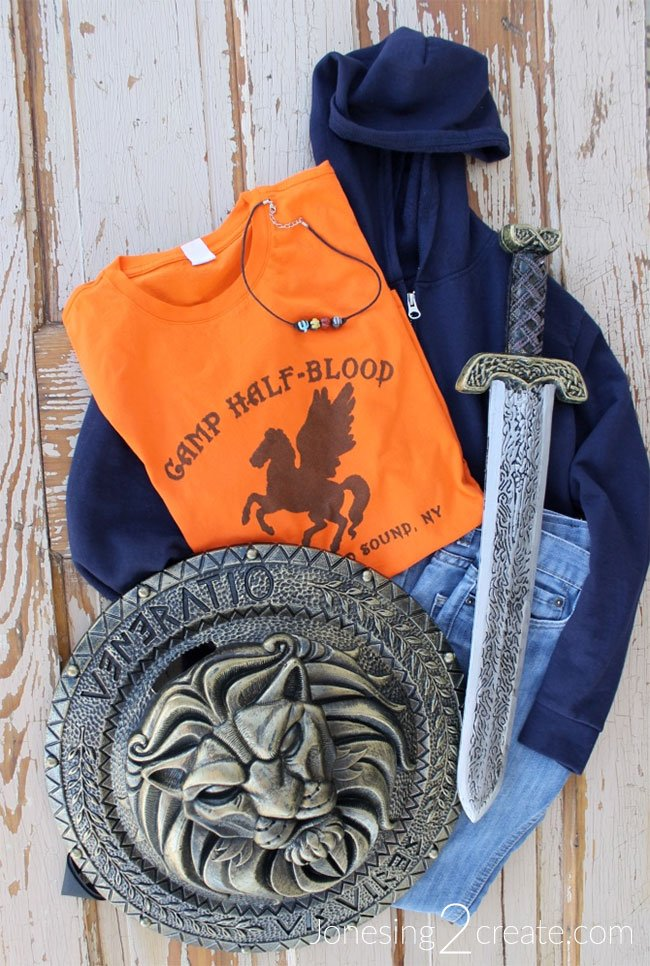 Homemade Diy Percy Jackson Costume And Necklace Jonesing2create