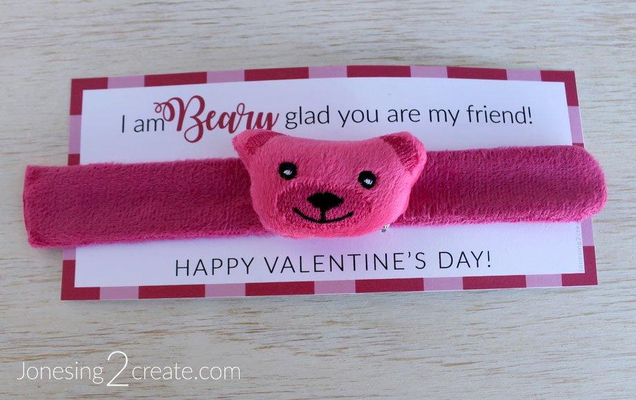 Slap Bracelet Valentine Cards Printables