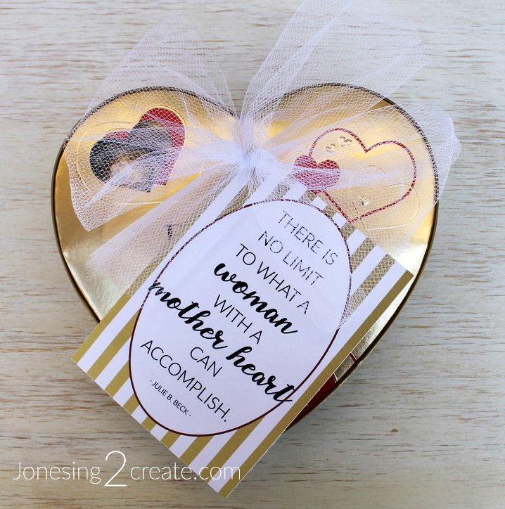 Ministering Message Mother's Day Printable with chocolate