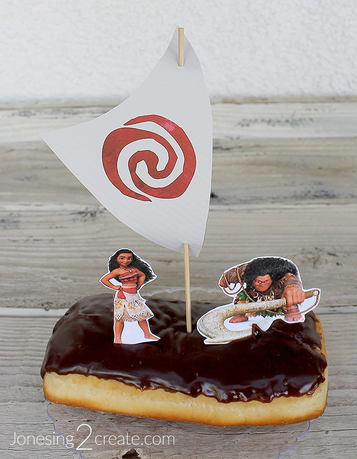 Moana Boat Donut Birthday Cake Jonesing2create
