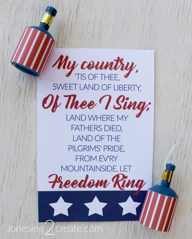 Fourth of July LDS Ministering Printable - Jonesing2Create