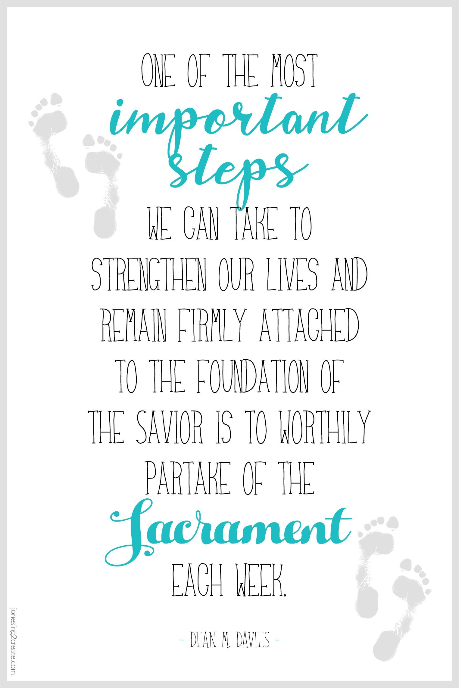 Importance of Sacrament LDS Ministering Printable