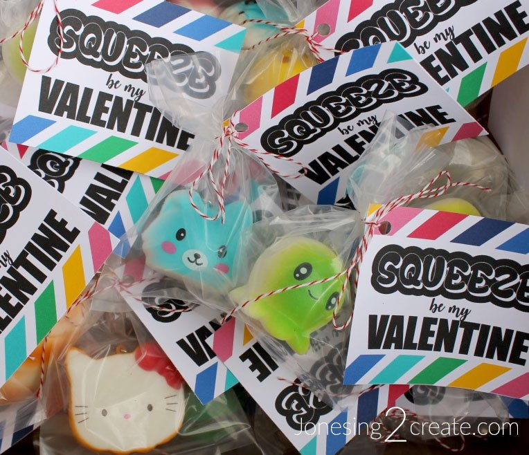 Squishies Valentines Day Card Printable