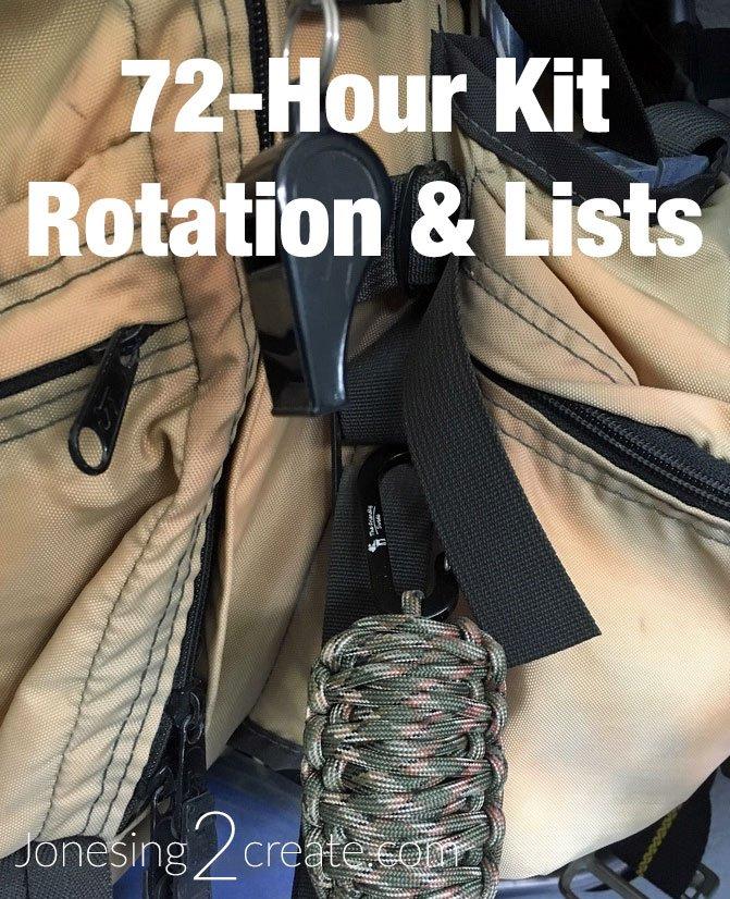 72 Hour Kit Rotation and Lists