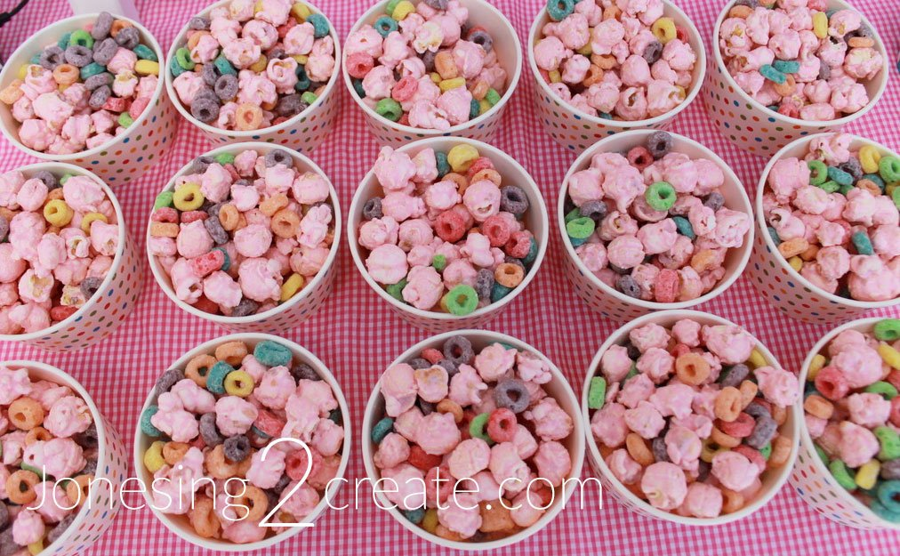 Donut Popcorn Mix on table