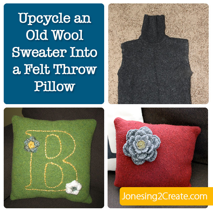 Upcycle an old Sweater to a felt Pillow
