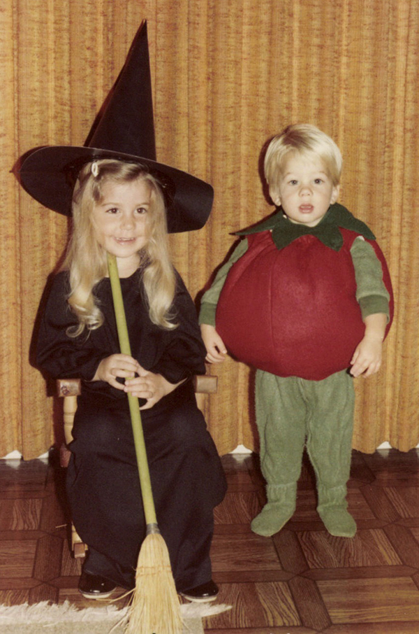 witch and tomato costume