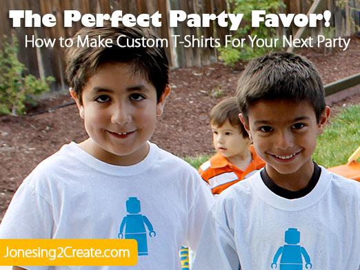 Custom T-shirt Party Favors