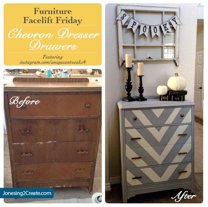 Chevron Dresser Furniture Facelift