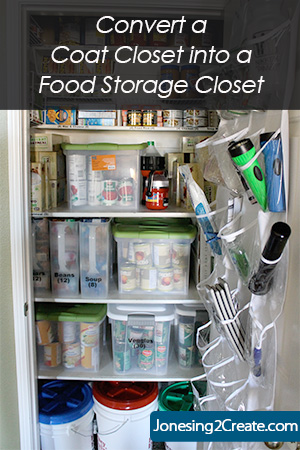 Convert a Coat Closet for Food Storage