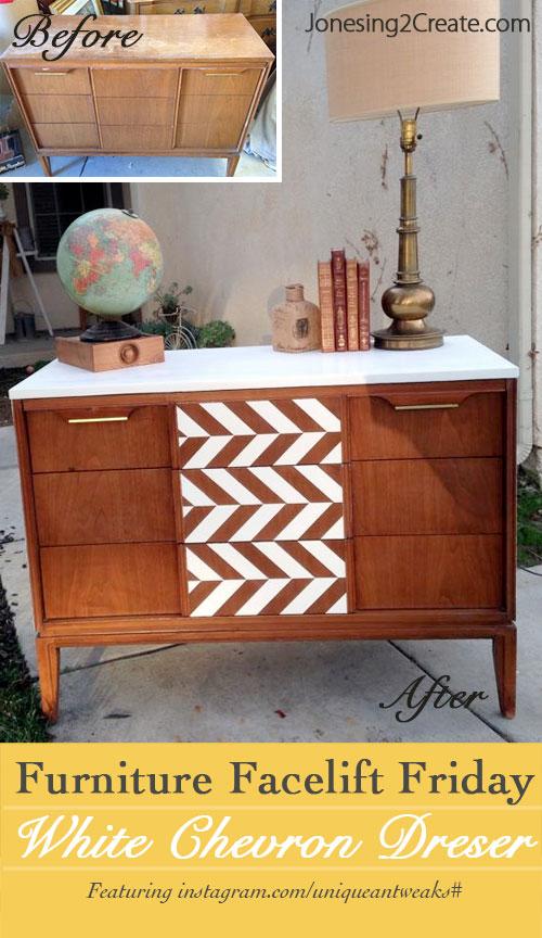 Herringbone Pattern Dresser