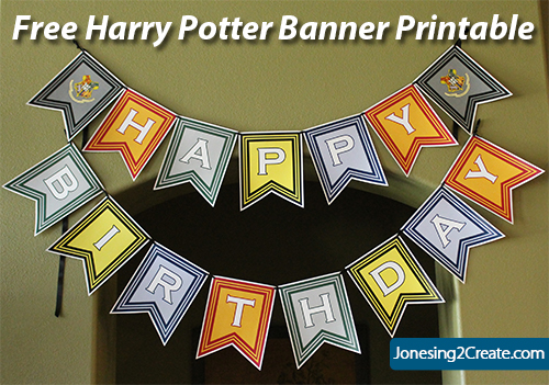 Free Harry Potter Printables And Decorations Jonesing2create