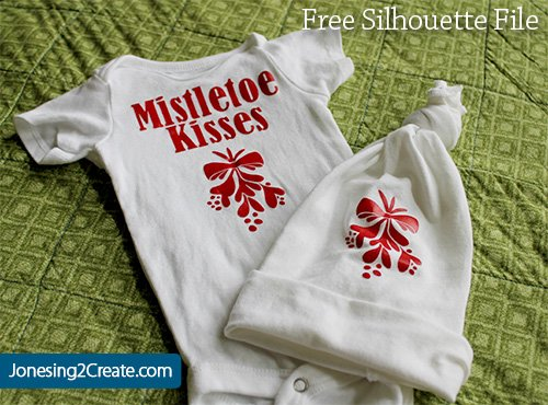 mistletoe-christmas-baby-shirt