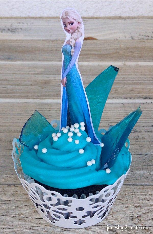 Elsa-cupcake