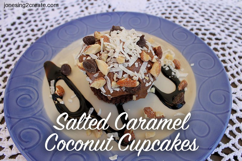 Salted Caramel Coconut Cupcakes