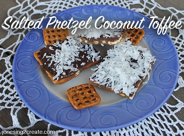 Salted Pretzel Coconut Toffee