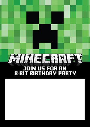 minecraft-birthday-invitation
