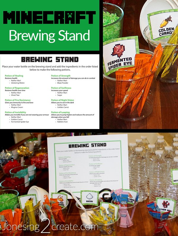 Minecraft Party Brewing Stand