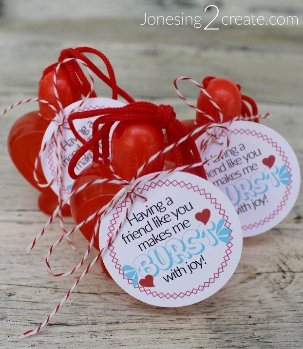 Bubble Valentine Printable