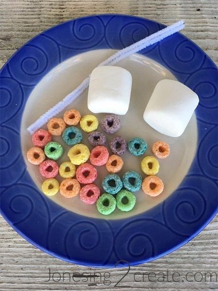 Fruit Loop Marshmallow Rainbows Supplies